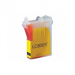 BROTHER LC800Y compatible - Cartouche d'encre jaune