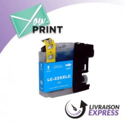 BROTHER LC225XLC compatible - Cartouche d'encre cyan