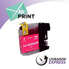 BROTHER LC225XLM compatible - Cartouche d'encre magenta