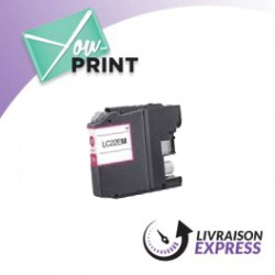 BROTHER LC22EM compatible - Cartouche d'encre magenta